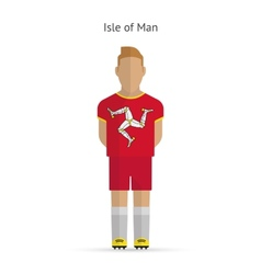 Isle of man football player soccer uniform vector