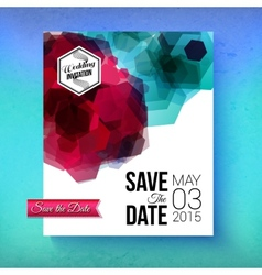 Artistic romantic save the date wedding template vector