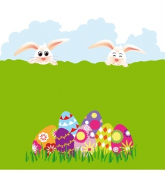 Springtime easter holiday vector