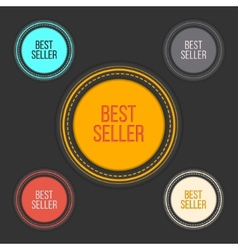 Best seller choice sign set in simple and clean vector