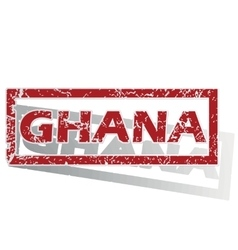 Ghana outlined stamp vector