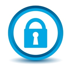 Blue lock icon vector