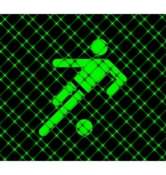 Football player flat modern web button and space vector