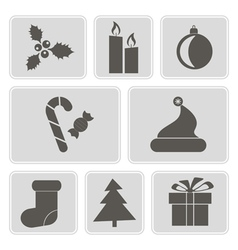 Icons with symbols of christmas vector