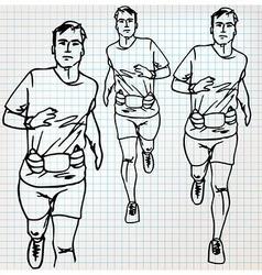 Male runner sketch vector