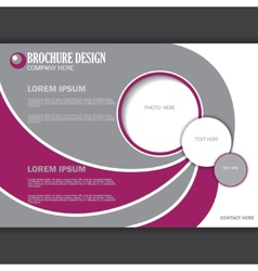 Horizontal presentation of business poster vector