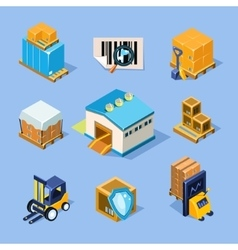 Warehouse equipment vector