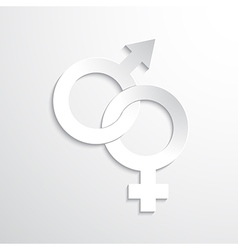 White paper gender sign vector