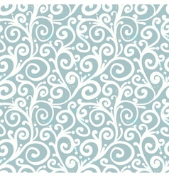 Pattern with waving curls similar to winter frost vector