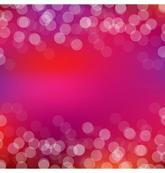 Pink card with bokeh vector