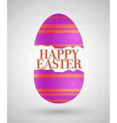 Happy easter background with egg vector