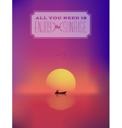 Eastern sunrise seascape abstract background or vector