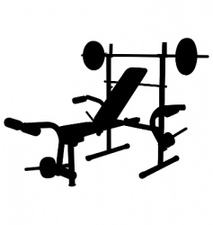 Weight bench vector