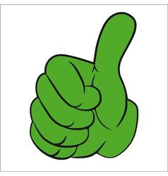 Hand gesture thumbs up vector