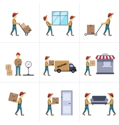 Delivery person freight logistic business service vector
