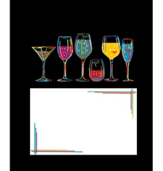 Cocktail hour vector