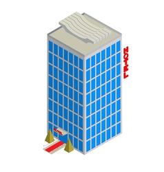 Isometric hotel icon vector