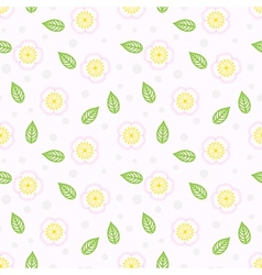 Pattern with stylized sakura flowers vector
