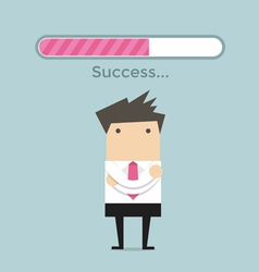 Businessman and success loading bar vector