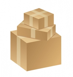 Packages boxes vector