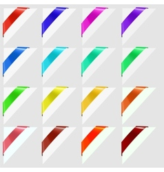Colorful corners marks vector