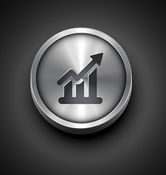 Growth icon vector