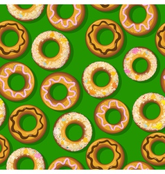Fresh donut pattern vector