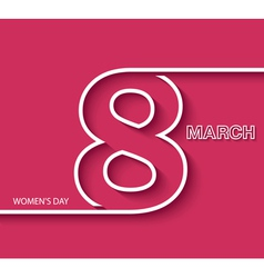 8 march womens day greeting card design vector