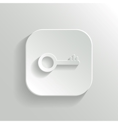 Key icon - white app button vector