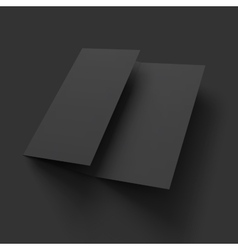 Blank trifold paper brochure mockup vector