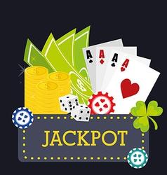 Casino design vector