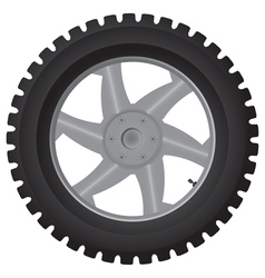 Normal car wheel on a white background vector