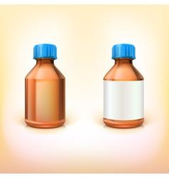 Vial for drugs vector