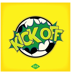 Kick off football match vector