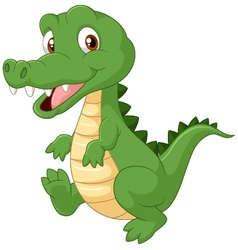 Happy cartoon crocodile vector