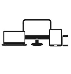 Set of computer tablet vector