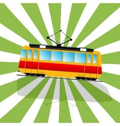 The fantastic tramcar vector