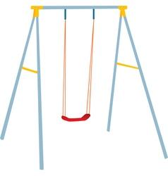Children swing set vector