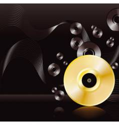 Gold disc background vector