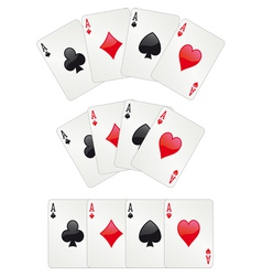 Three aces poker vector