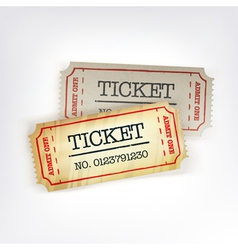 Two tickets vector