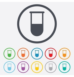 Medical test tube sign icon lab equipment vector