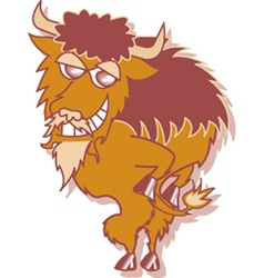 Buffalo cartoon vector