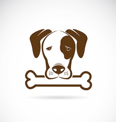 Dog and bone vector