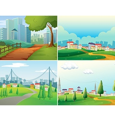 Cities and parks vector