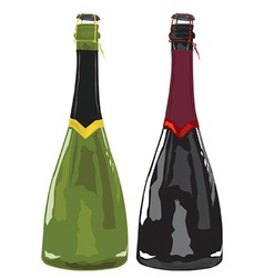Sparkling wine vector