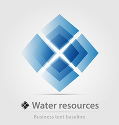 Water resource business icon vector