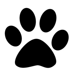 Black paw print vector