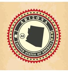 Vintage label-sticker cards of arizona vector