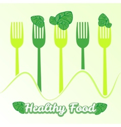 Concept vegetarian with forks vector